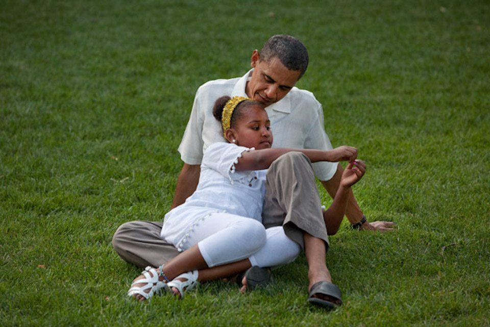 Obama and Sasha