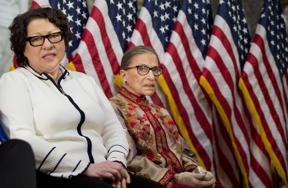 Supreme Court Justices Sonia Sotomayor and Ruth Bader Ginsburg