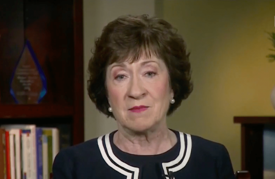 Republican Sen. Susan Collins of Maine