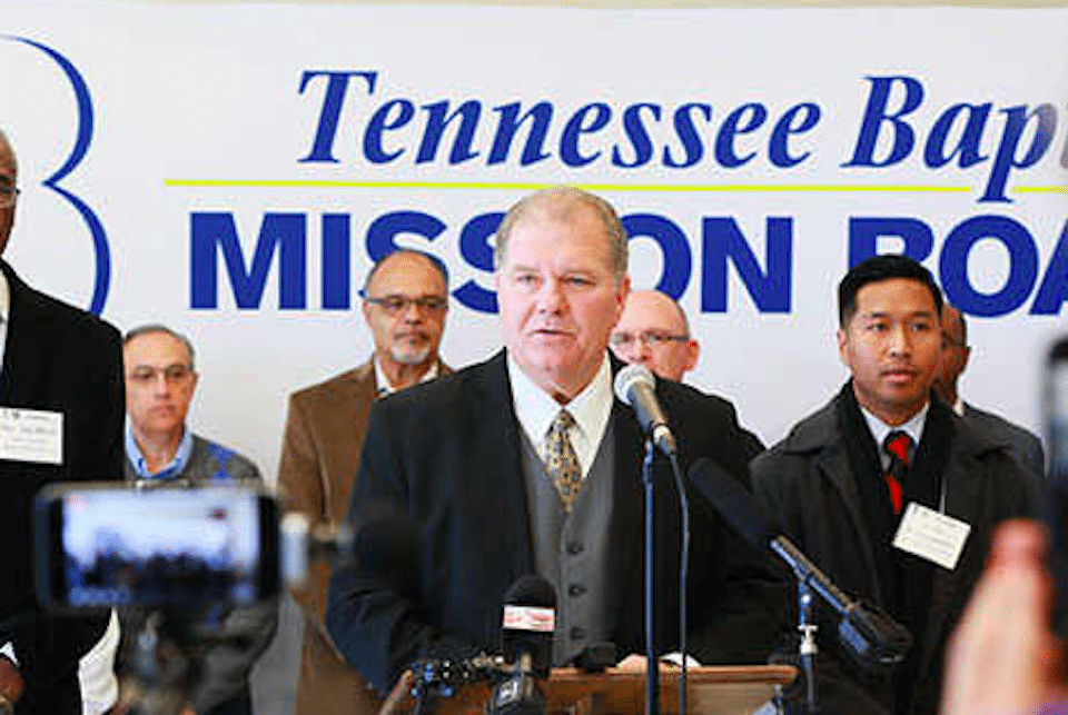 Randy C. Davis, center, president and executive director of the Tennessee Baptist Mission Board