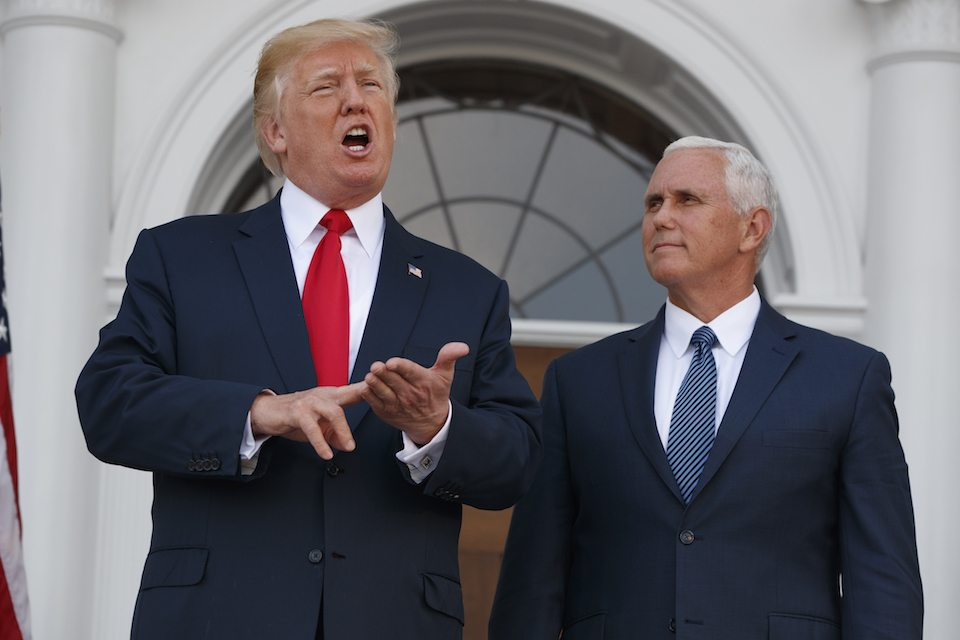 Mike Pence with Trump