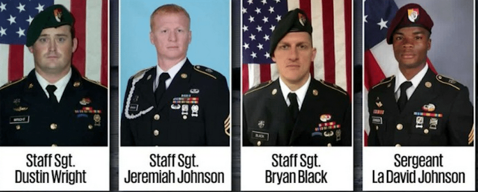 The four U.S. troops killed in an ISIS-led ambush in Niger