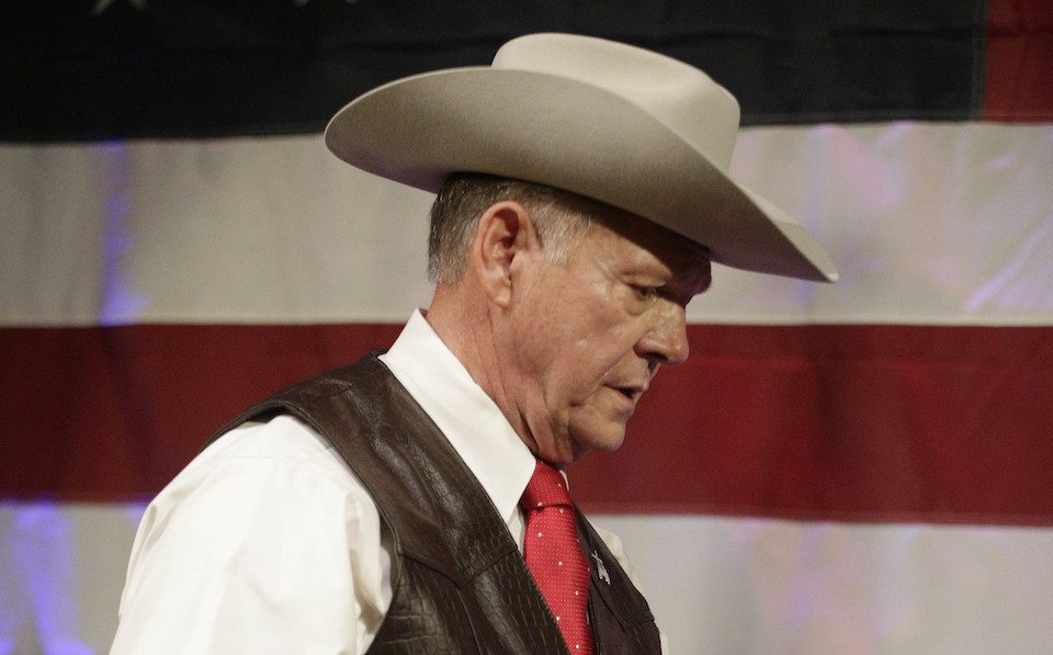 Republican GOP nominee Roy Moore