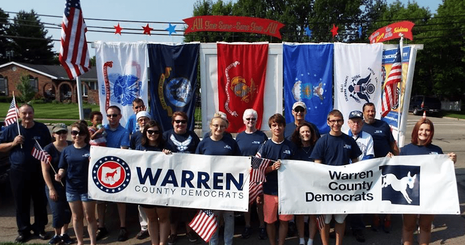 Members of the Warren County Democratic Party in Ohio