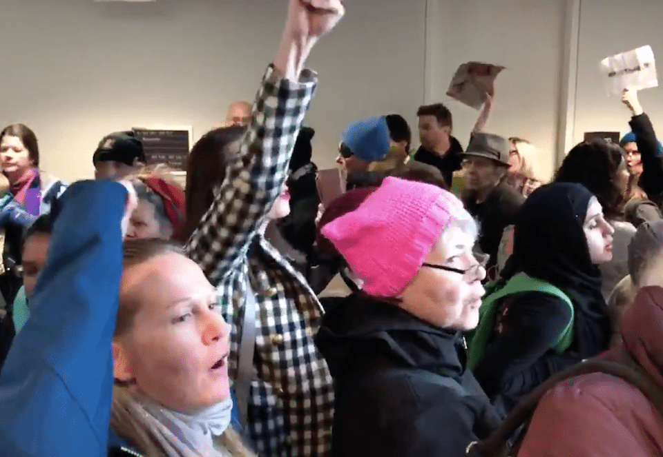 Protesters storm the Senate to protest the GOP tax scheme