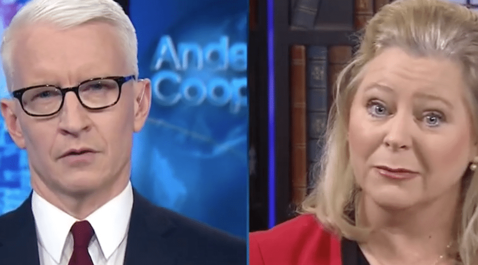 CNN's Anderson Cooper and Roy Moore spokeswoman Janet Porter.