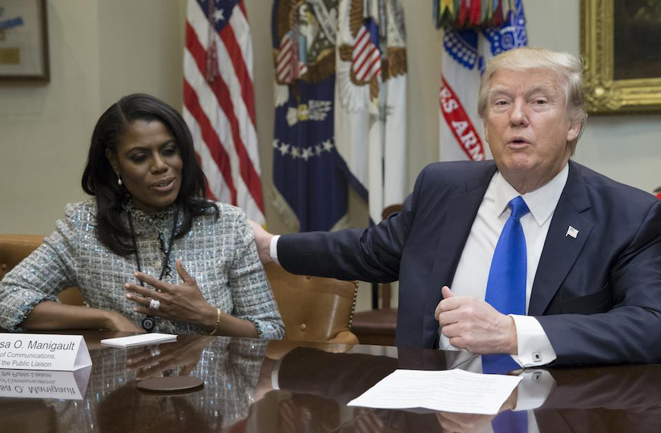 Donald Trump and Omarosa Manigault