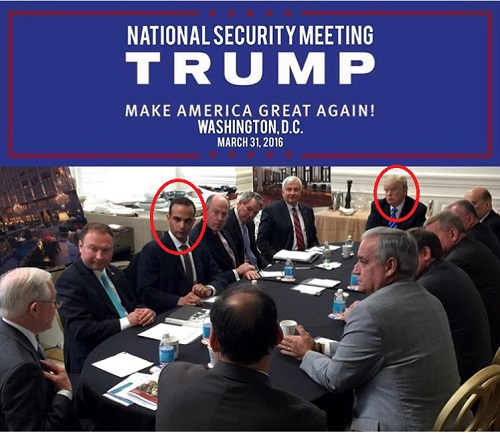 George Papadopoulos at Trump campaign meeting 03/31/2016
