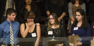 Students are overcome with emotion after FL state representatives voted not to hear the bill banning assault rifles and large capacity magazines