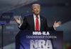 Donald Trump speaks at the National Rifle Association convention