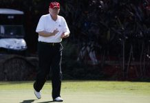 Donald Trump golfing in Florida