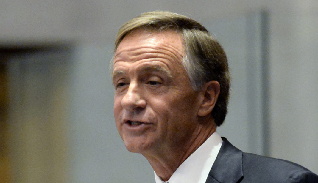 Tennessee Gov. Bill Haslam gives his annual State of the State address to a joint convention of the Tennessee General Assembly Monday, Jan. 29, 2018, in Nashville, Tenn.