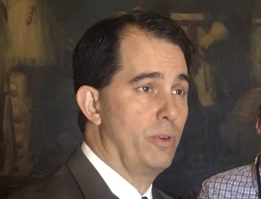 Wisconsin Gov. Scott Walker speaking to reporters, expresses confidence that his top priorities, including an overhaul of the juvenile justice system, will pass this session but he's not as enthusiastic about creating a new