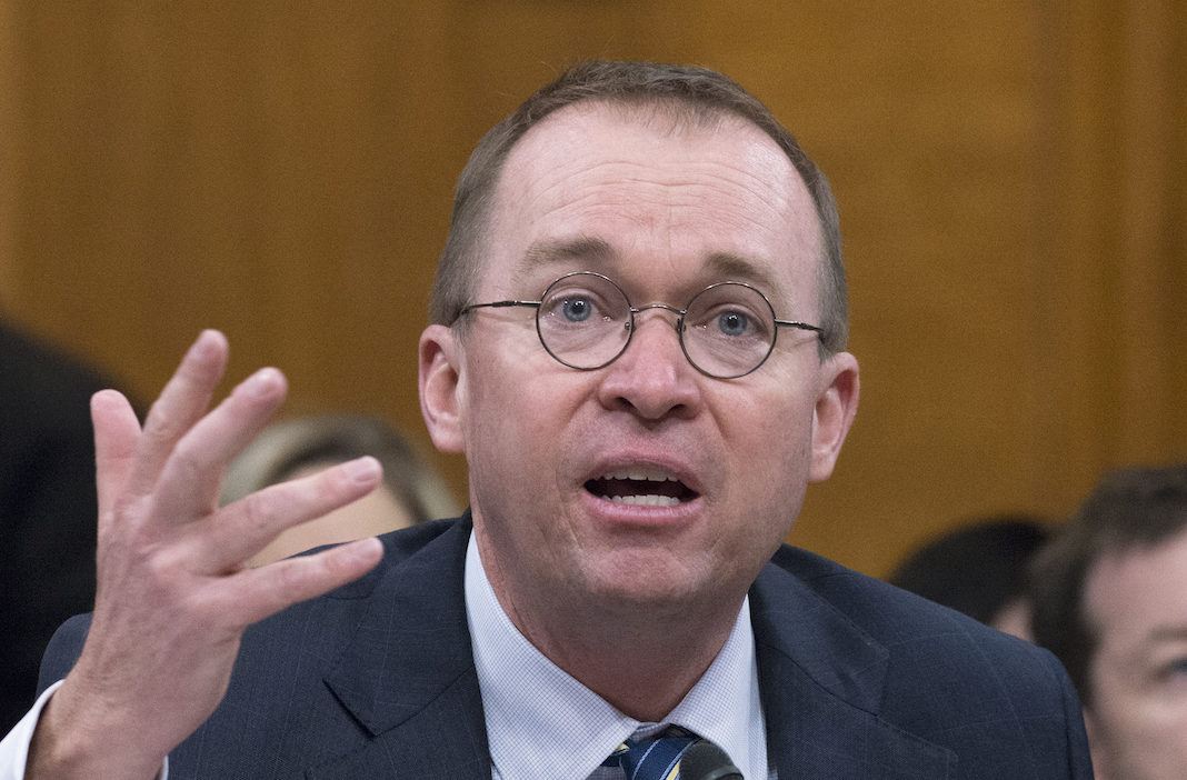 Mick Mulvaney, Director, Office of Management and Budget, testifies before the United States Senate Committee on the Budget on the President's fiscal year 2019 budget proposal on Capitol Hill in Washington, DC on Tuesday, February 13, 2018. Credit: