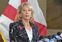 Betsy DeVos at Marjory Stoneman Douglas High School 03-07-2018