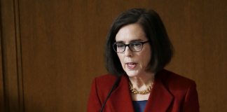 Oregon Democratic Gov. Kate Brown