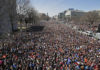 """The crowd fills Pennsylvania Avenue during the """"March for Our Lives"""" rally in support of gun control, Saturday, March 24, 2018, in Washington."""