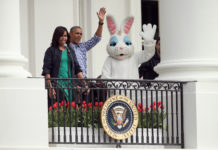 Barack Obama, Michelle Obama, Easter Bunny