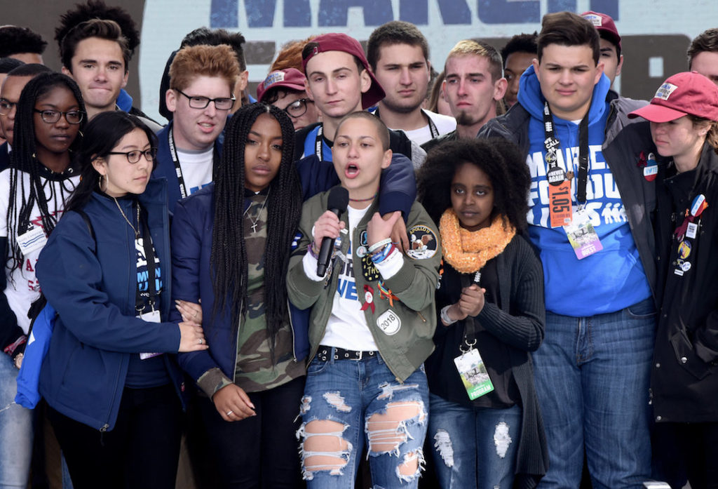 Parkland students at the March for Our Lives