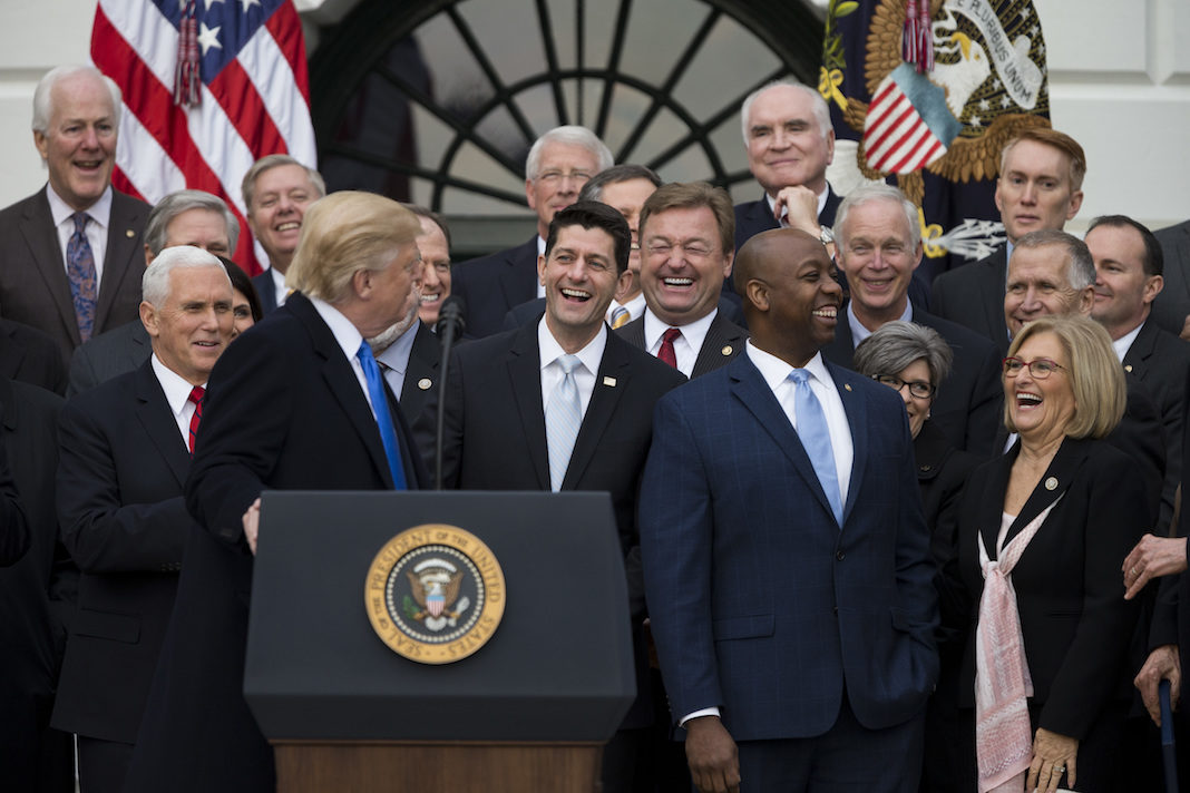 GOP Tax Bill remarks with Trump and Paul Ryan