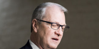 UNITED STATES - JANUARY 9: Rep. Kevin Cramer, R-N. Dak., speaks with reporters as he leaves the House Republican Conference meeting in the Capitol on Tuesday, Jan. 9, 2018.