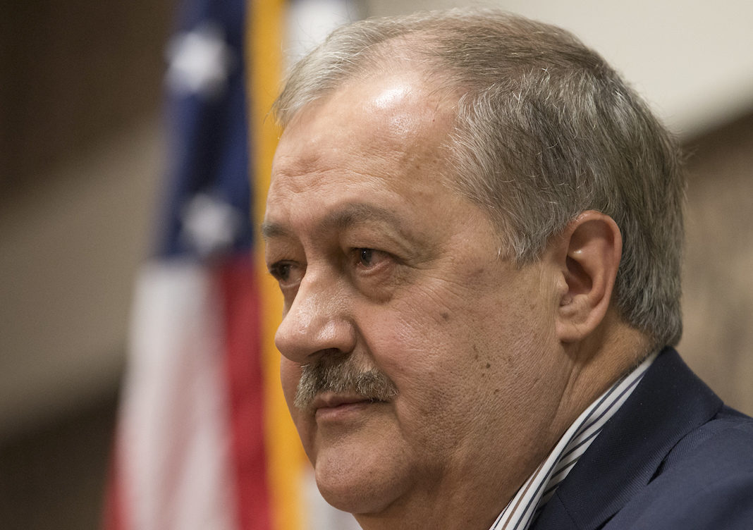 Former Massey CEO and West Virginia Republican Senatorial candidate, Don Blankenship, speaks during a town hall to kick off his campaign in Logan, WV., Thursday, Jan. 18, 2018. Blankenship will face two other republican candidates in the May 8th primary.