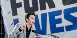 David Hogg, a survivor of the mass shooting at Marjory Stoneman Douglas High School in Parkland