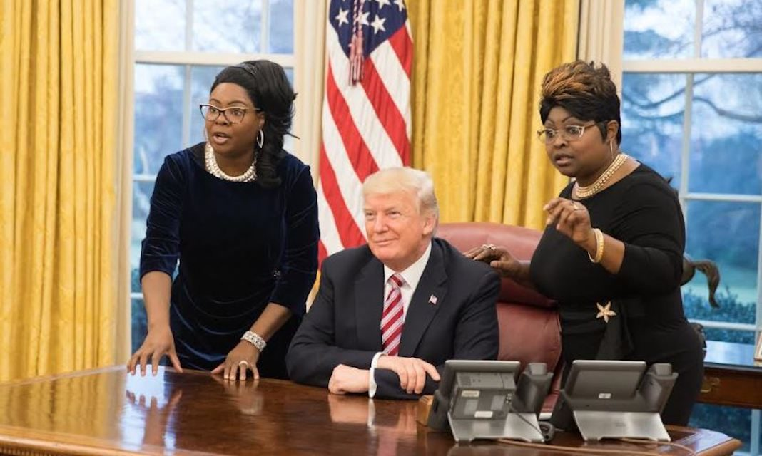 Diamond and Silk with Trump in Oval Office