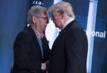 Sen. Mitch McConnell and Donald Trump