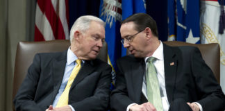 Attorney General Jeff Sessions and Deputy Attorney General Rod Rosenstein