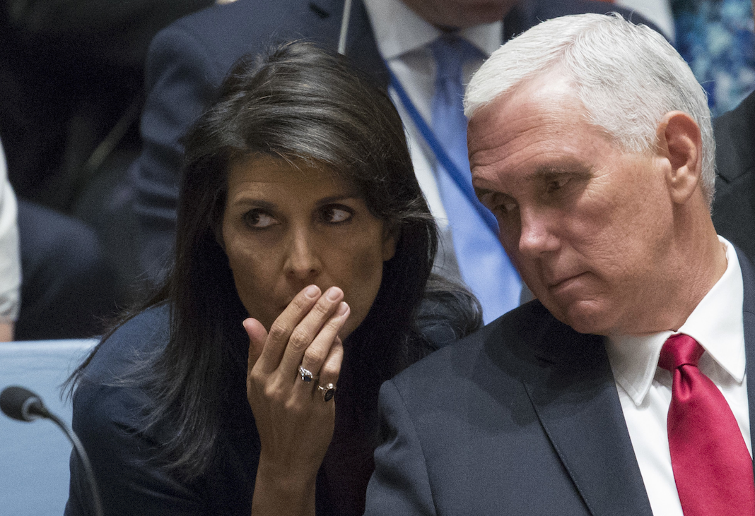 Nikki Haley and Mike Pence