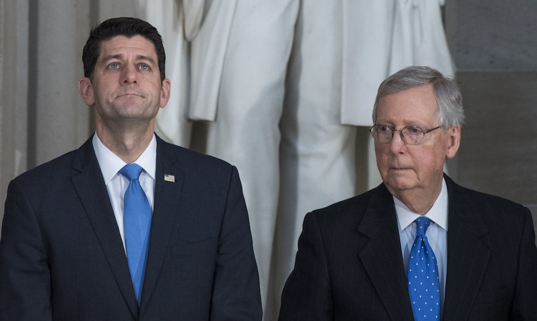 Paul Ryan and Mitch McConnell