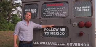 Georgia Republican Michael Williams deportation bus ad