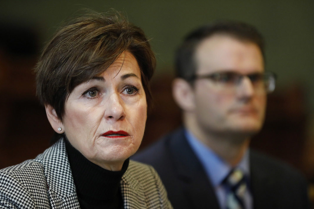 Iowa Republican Gov. Kim Reynolds