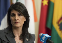 United Nations Ambassador Nikki Haley