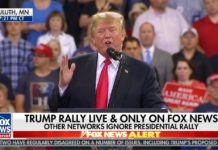 Donald Trump rally Fox News chyron
