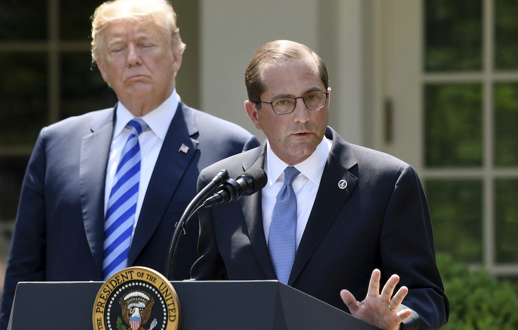 Trump Alex Azar HHS 7-27-18