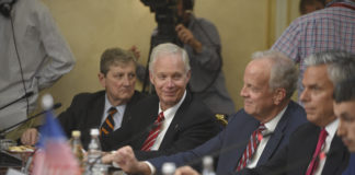 John Kennedy, Ron Johnson, Jerry Moran, and other GOP members of Congress meet with Russians