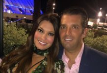 Kimberly Guilfoyle and Donald Trump Jr.
