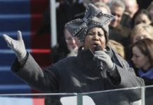 Aretha Franklin at Obama's inauguration