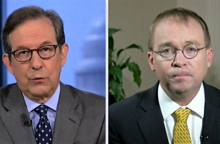 Fox anchor Chris Wallace and OMB Director Mick Mulvaney