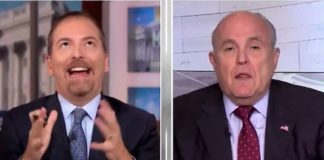 Chuck Todd and Rudy Giuliani