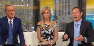 Fox and Friends hosts Steve Doocy, Ainsley Earhardt, and Brian Kilmeade