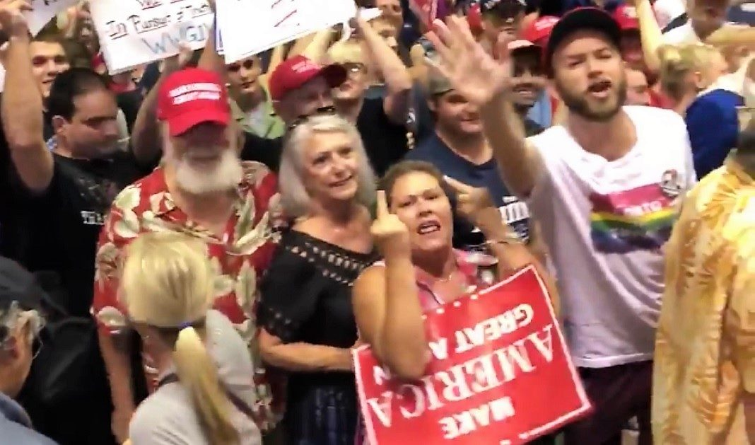 Trump supporters at Tampa rally