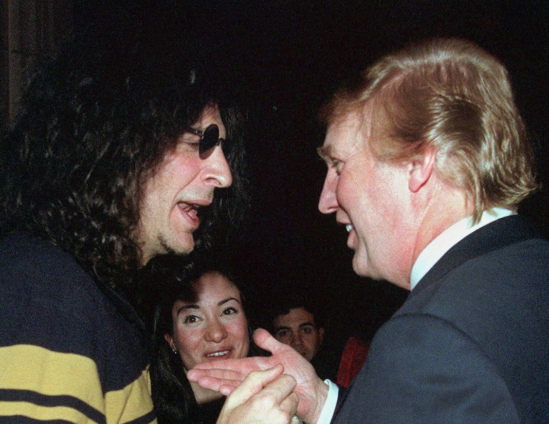 Howard Stern and Donald Trump in 2000