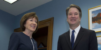 Susan Collins and Brett Kavanaugh