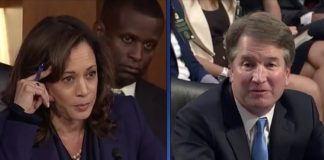 Kamala Harris and Brett Kavanaugh