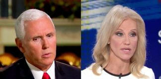 Vice President Mike Pence and White House counselor Kellyanne Comway