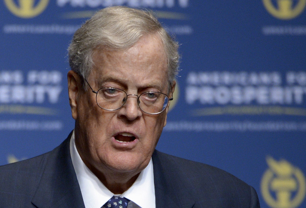 David Koch funds Americans for Prosperity