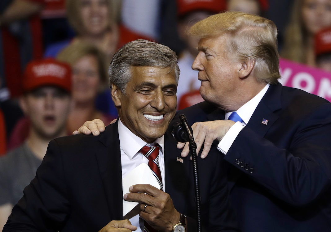 Lou Barletta and Donald Trump